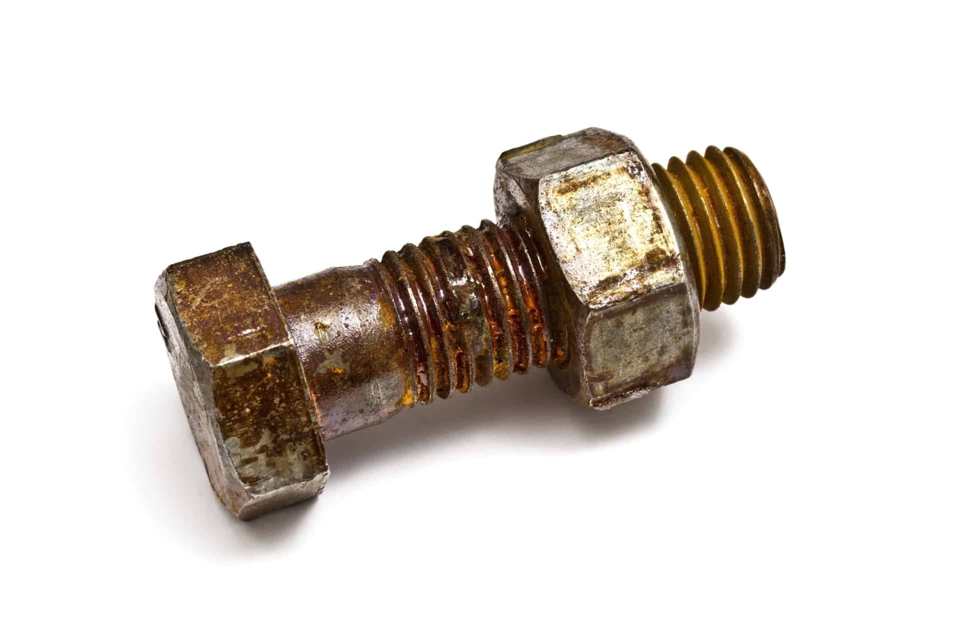 rusty nut and bolt