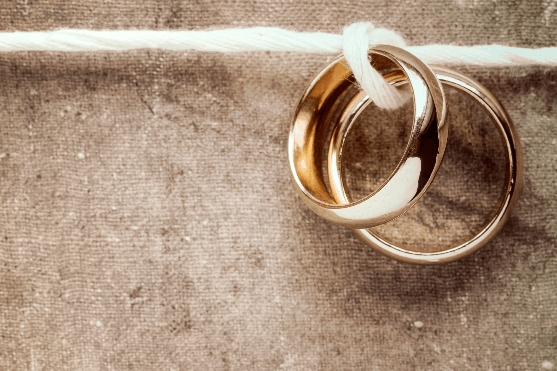 shiny gold rings